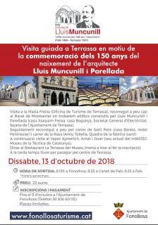 L'ajuntament organitza visites guiades a Terrassa en el 150è aniversari del naixement de l'arquitecte Lluís Muncunill i Parellada
