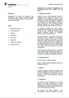 Comunicació del CatSalut: Implantació de l'horari de finalització del funcionament del CAP St Joan de Vilatorrada a les 20h